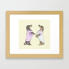 Dancing Salchichas Framed Art Print