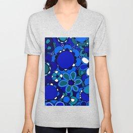 Floral Print Unisex V-Neck