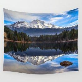 Mount Shasta Morning Reflection Wall Tapestry