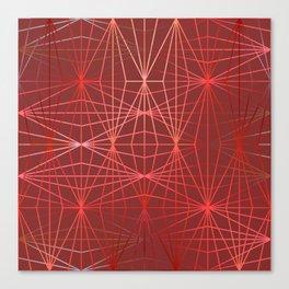 ELEGANT RED-PINK DIAMONDS-1 Canvas Print