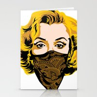 gangster Stationery Cards featuring Gangster Lady by UrbanCandy