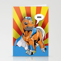 superhero Stationery Cards featuring Superhero Pony by GumiPoni