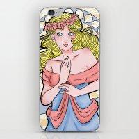 art nouveau iPhone & iPod Skins featuring Art Nouveau  by Brizy Eckert