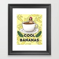 cool bananas Framed Art Print