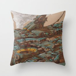 Aerial Station Two Throw Pillow