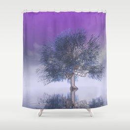 strange light somewhere -22- Shower Curtain