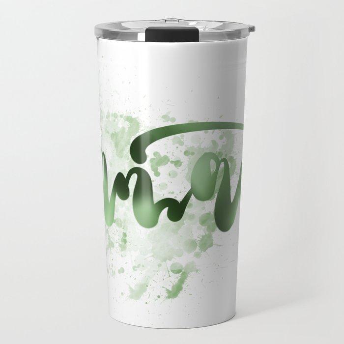 Green Namaste Travel Mug