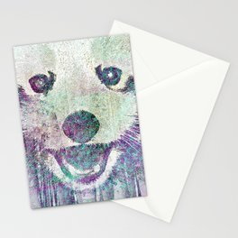 Red Panda Abstract  mixed media digital art collage Stationery Cards