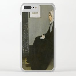 James Whistler's Arrangement in Grey and Black No. 1 Clear iPhone Case