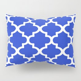 Arabesque Architecture Pattern In Royal Blue Pillow Sham