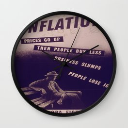 Vintage poster - Inflation Wall Clock