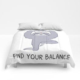 Happy Yogi Sloth - Find your balance Comforters