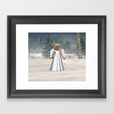 Little Winter Angel Framed Art Print