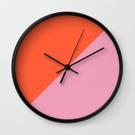 Bright Orange & Pink - oblique Wall Clock