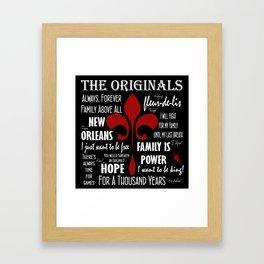 The Originals inspired art print (Black) Framed Art Print