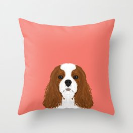 Bode - King Charles Spaniel customizable pet art for dog lovers  Throw Pillow