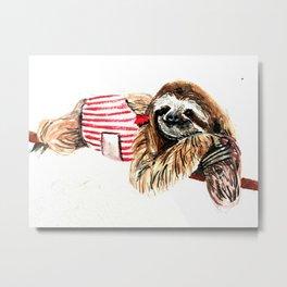 Sassy Sloth Metal Print