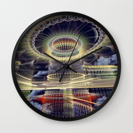 The Tower, Surrealistic mixed media art Wall Clock