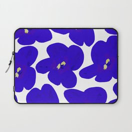 Blue Retro Flowers #decor #society6 #buyart Laptop Sleeve