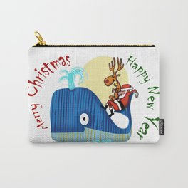 SANTA CLAUS LOVES WHALES Carry-All Pouch