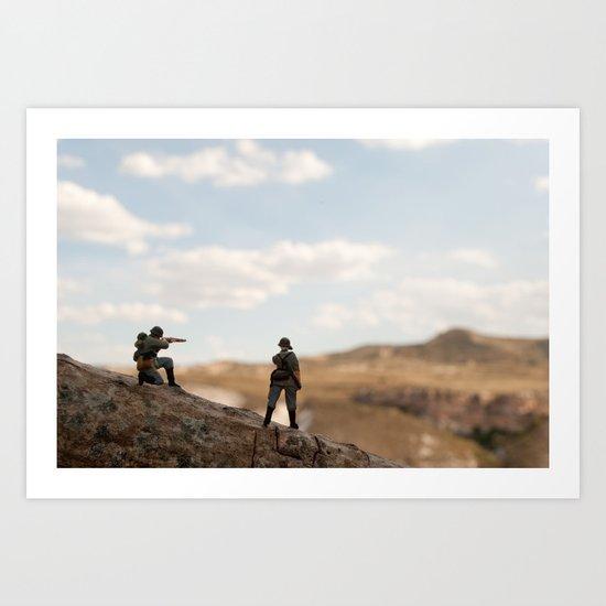 Soldiers watching Art Print