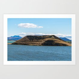 Skutustadagigar pseudo-craters in the lake Myvatn area - Iceland Art Print