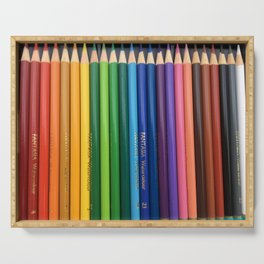 Colored Pencils Serving Tray