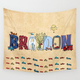 BRAYDON / personalised name illustration Wall Tapestry