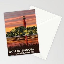 Vintage Poster - Jupiter Inlet Lighthouse Outstanding Natural Area, Florida (2015) Stationery Cards