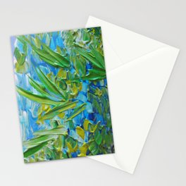 LAKE LOVE - Beautiful Relaxing Turquoise Blue Green Seaweed Chic Decor Gift for Him Acrylic Painting Stationery Cards