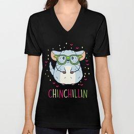 Chinchilla Shirt Pet Lover Gift Unisex V-Neck