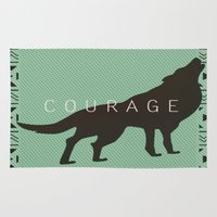 courage Area & Throw Rugs featuring Courage by Laura Santeler