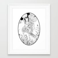 seahorse Framed Art Prints featuring Seahorse by Amy Consolo
