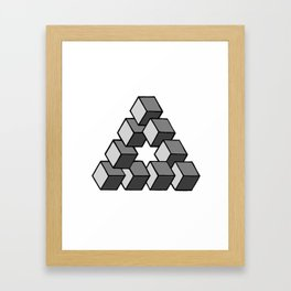 Impossible Cubes Framed Art Print