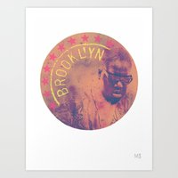 notorious big Art Prints featuring Notorious BIG (Notorious)  by Art By MOP$