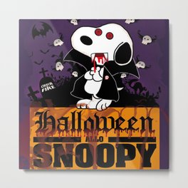 halloween snoopy Metal Print