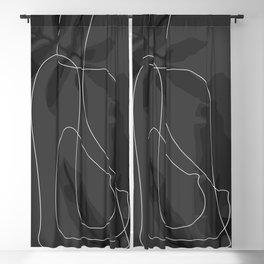 Tropical Nude Blackout Curtain