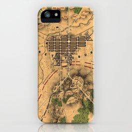 Vintage Map of The Gettysburg Battlefield (1863) 3 iPhone Case
