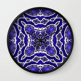 abstract jewel cobalt Wall Clock