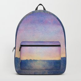 Watercolour Sunset Textural Abstract Painting Backpack