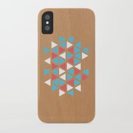 Triangle/wood iPhone Case