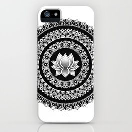 Lotus Mandala iPhone Case