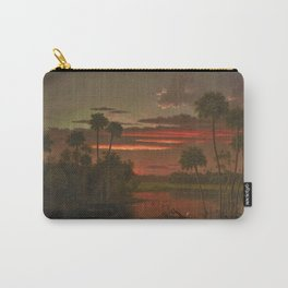 The Great Florida Sunset by Martin Johnson Heade Carry-All Pouch