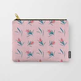 Heliconia Flower Green&Pink Carry-All Pouch