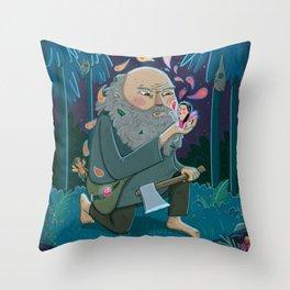 Giant & Fairies Throw Pillow