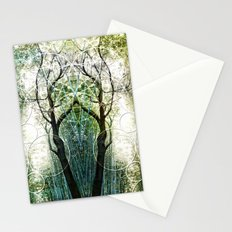 Bamboo Forest Geometry Stationery Cards