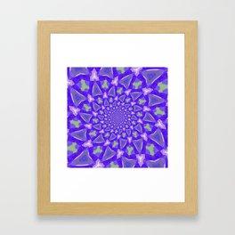 The blue pattern Framed Art Print