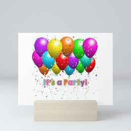 It's A Party Colorful Balloons Mini Art Print