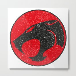 Thundercats worn logo Metal Print