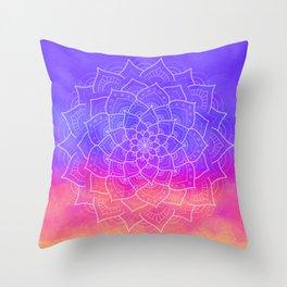 Color Mandala Throw Pillow
